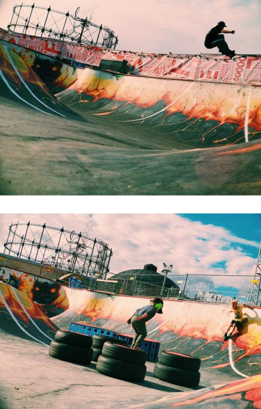 There are many ways you can enjoy the DIY skatepark at the festival!