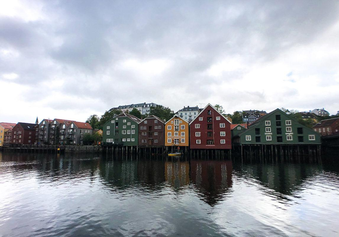 Typical Norwegian village by the fjord!