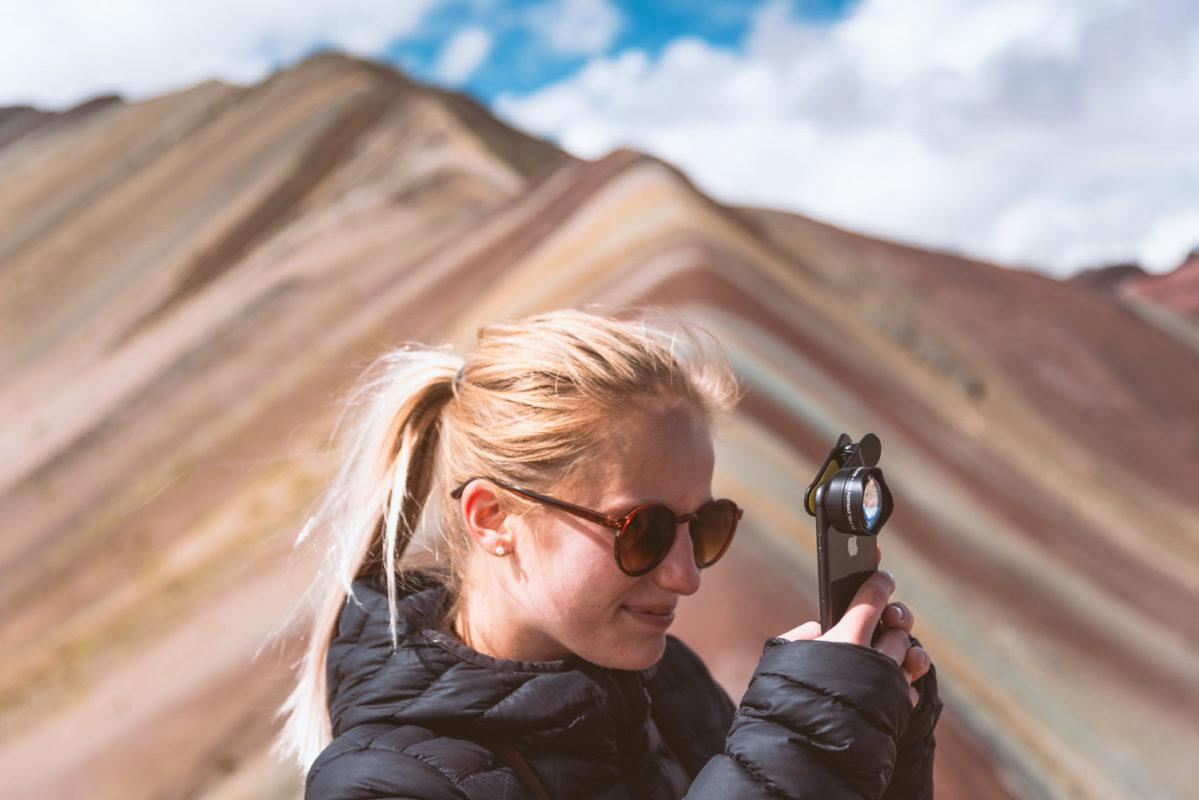 Photographing the Rainbow mountain of Peru